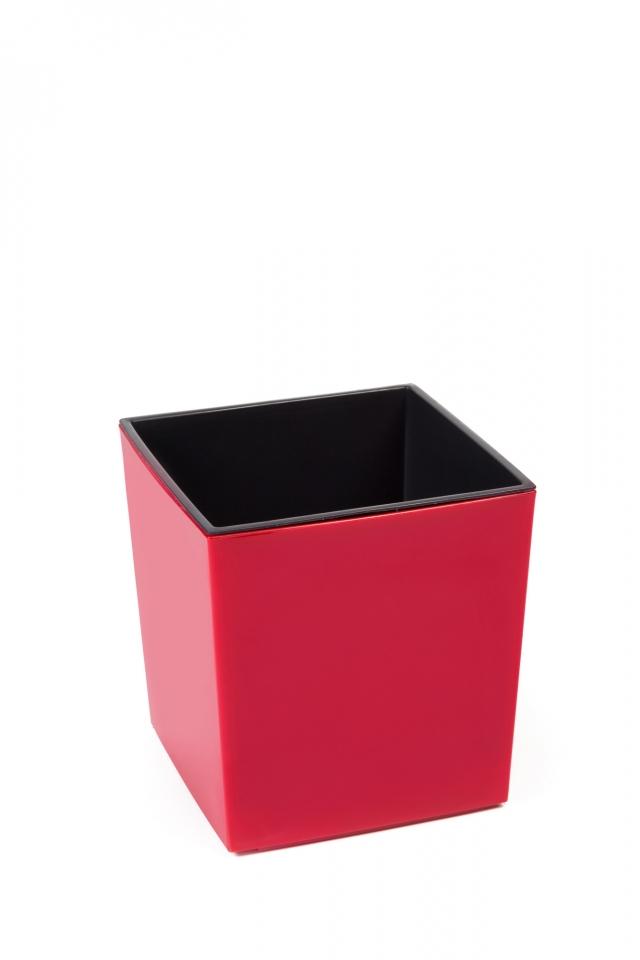 Plastový květináč Juka 300x300 mm, červený