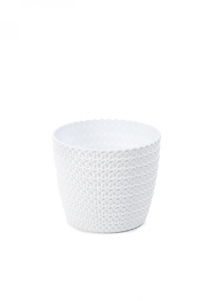 Plastový květináč Magnolia Jersey 110 mm, bílý
