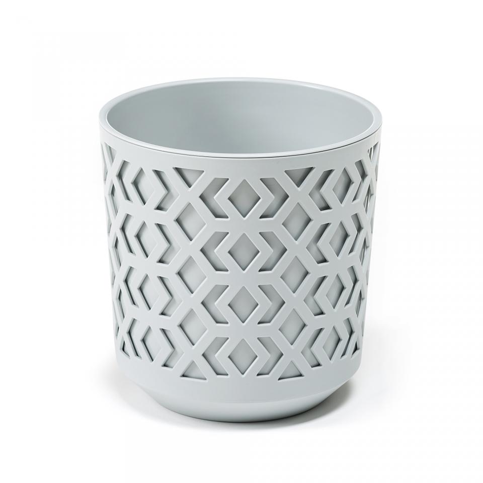 Plastový květináč Aztek 255 mm, světle šedý, světle šedý
