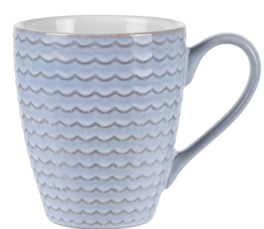 Hrnek Stone 300 ml, modrý s vlnkou