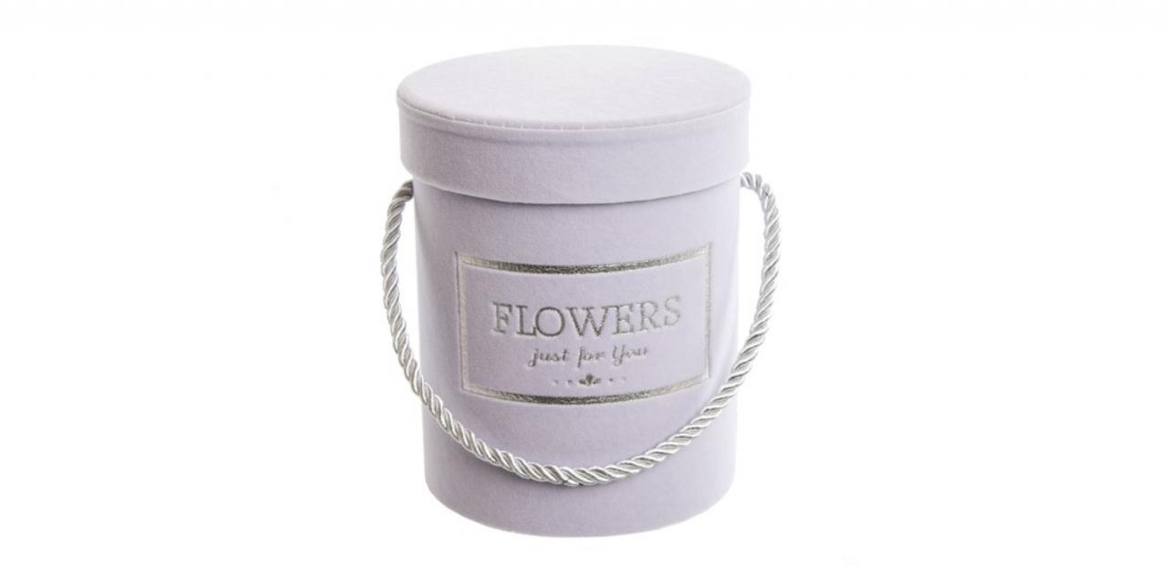 Flower box fialový sametový, 15x12,5 cm