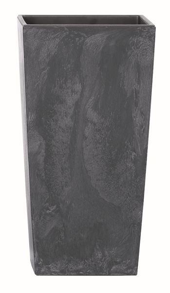Květináč Urbi Square Effect 26,5x26,5 cm, antracit
