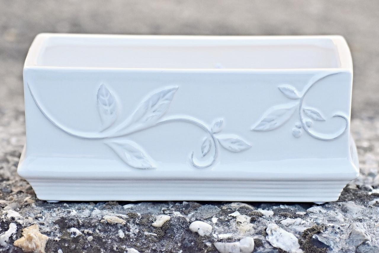 Keramický květináč List 9x21,5x11,5 cm