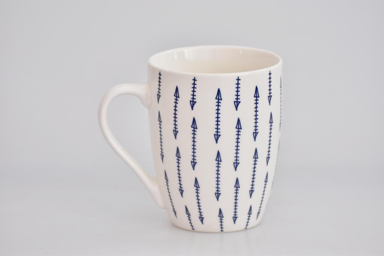 Porcelánový hrnek - modrý dekor I