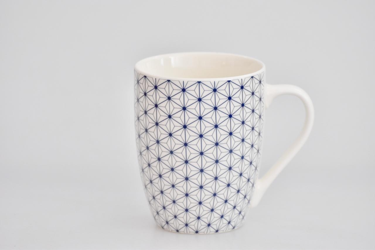 Porcelánový hrnek - modrý dekor IV