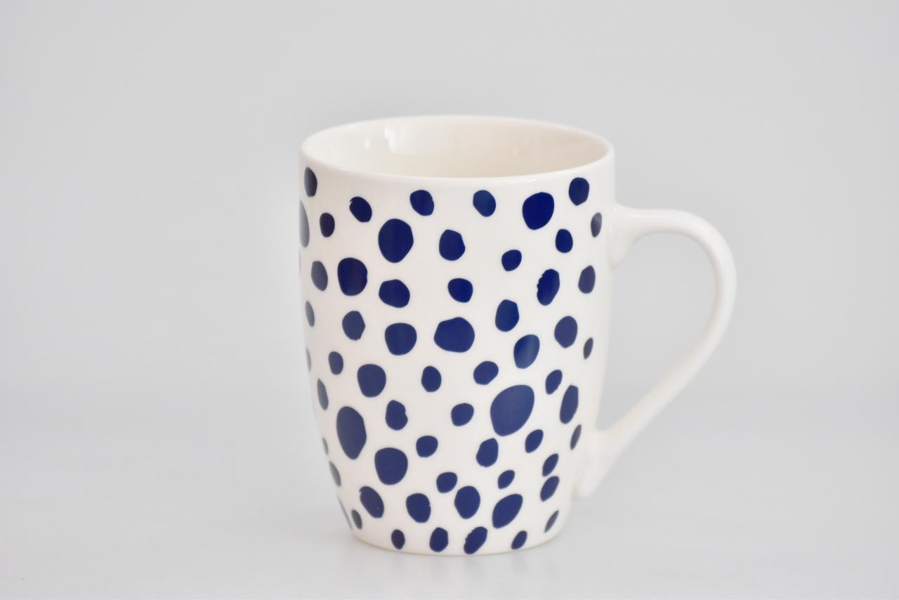 Porcelánový hrnek - modrý dekor V