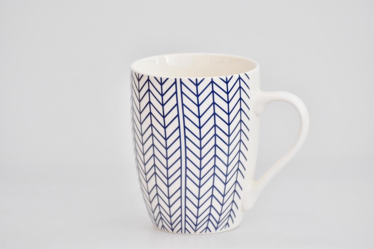 Porcelánový hrnek - modrý dekor VI