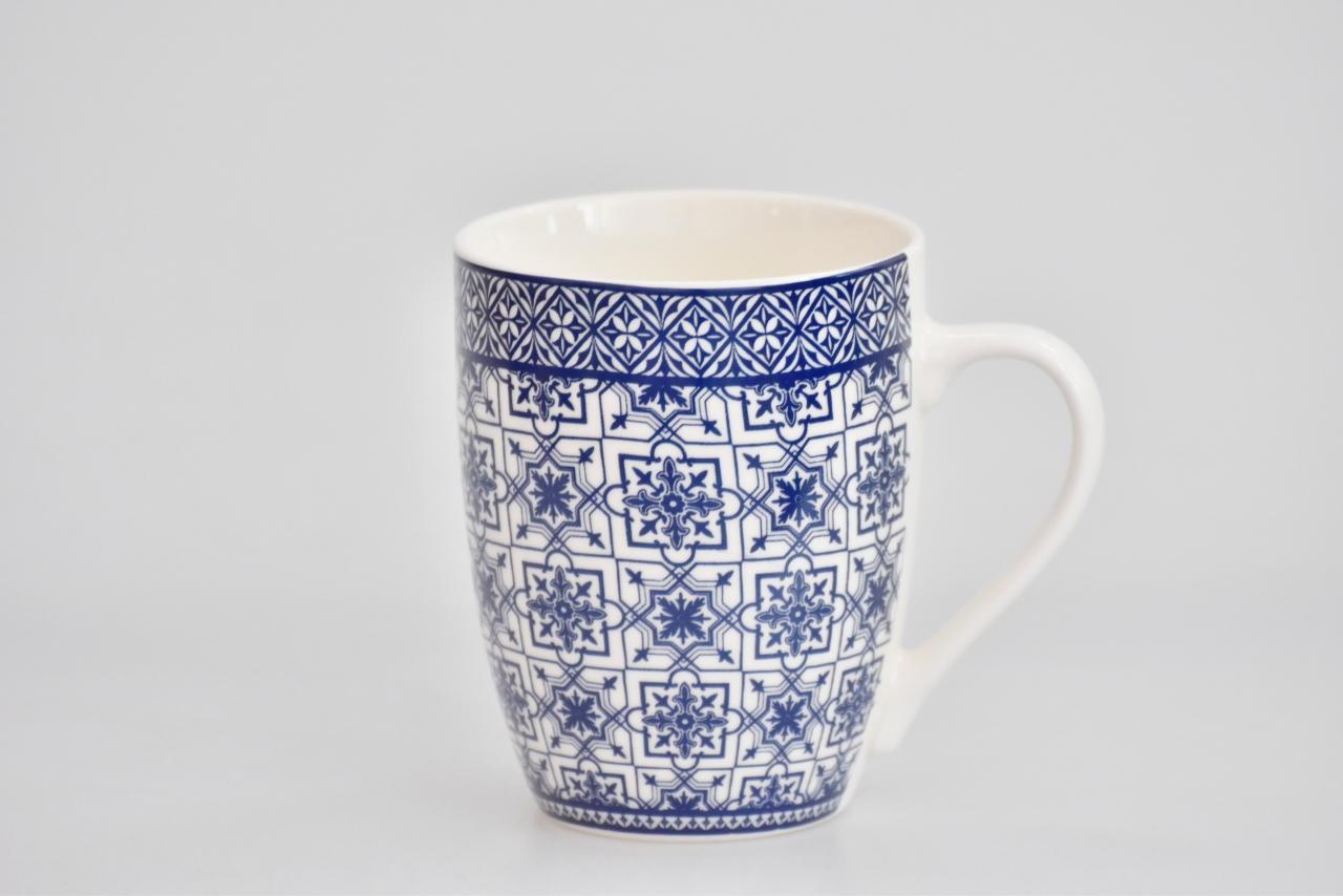 Porcelánový hrnek - modrý dekor VII