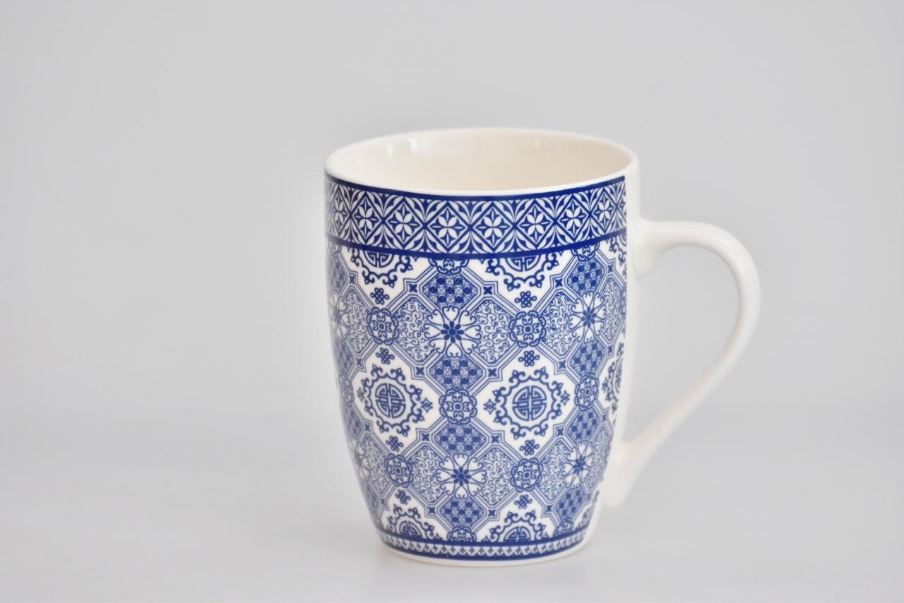 Porcelánový hrnek - modrý dekor VIII