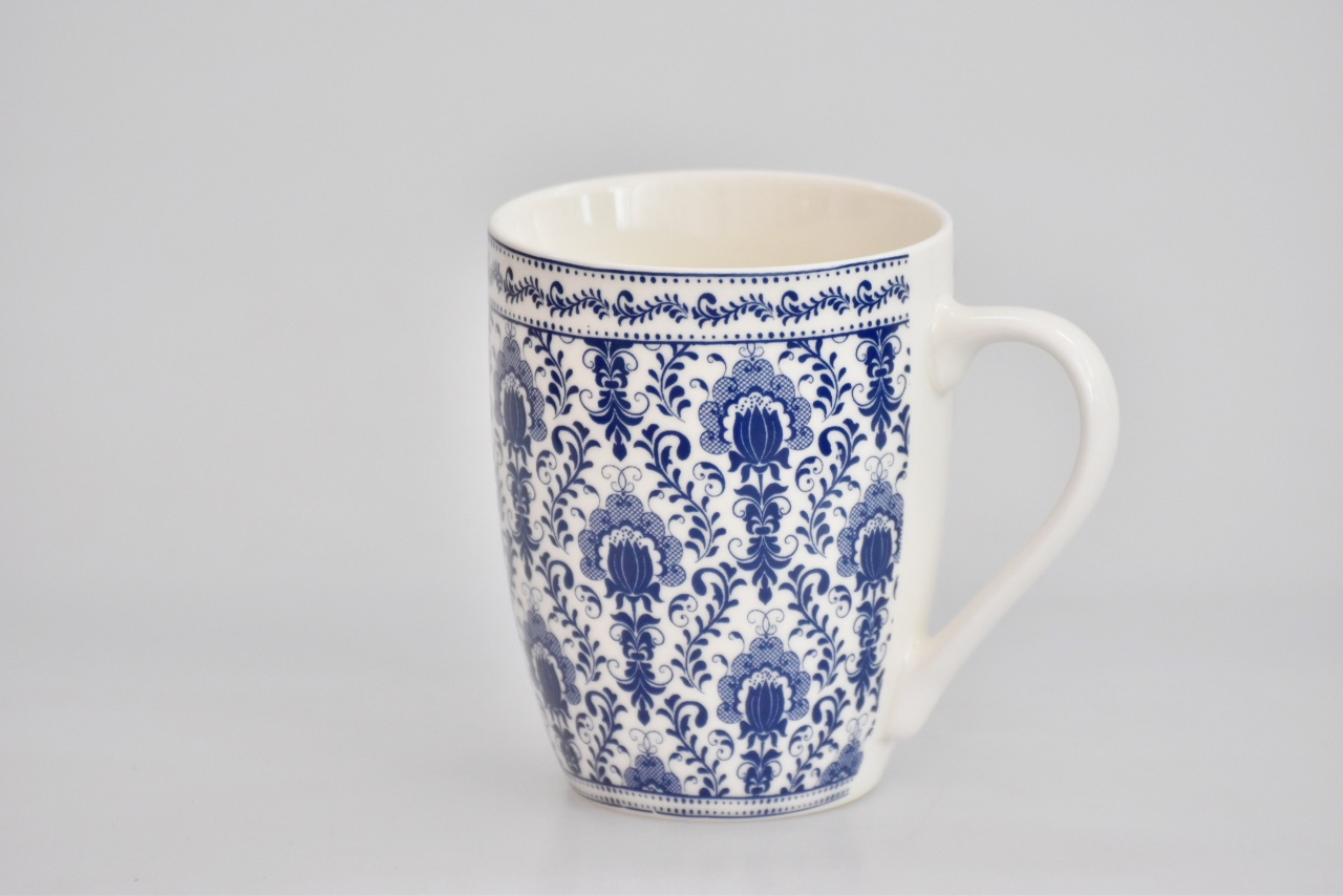 Porcelánový hrnek - modrý dekor IX