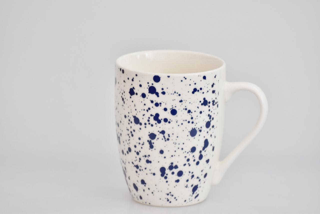 Porcelánový hrnek - modrý dekor X