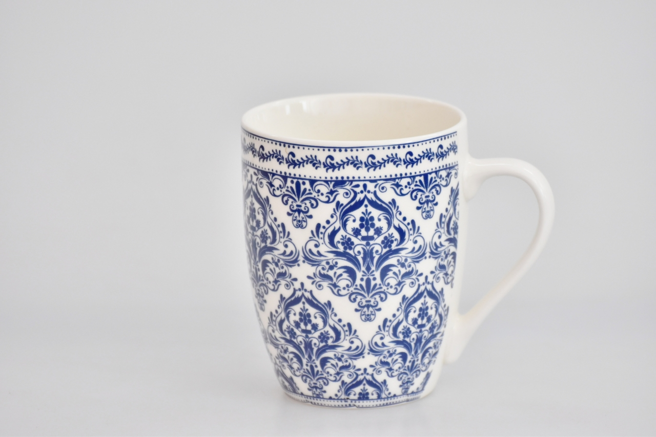 Porcelánový hrnek - modrý dekor XI