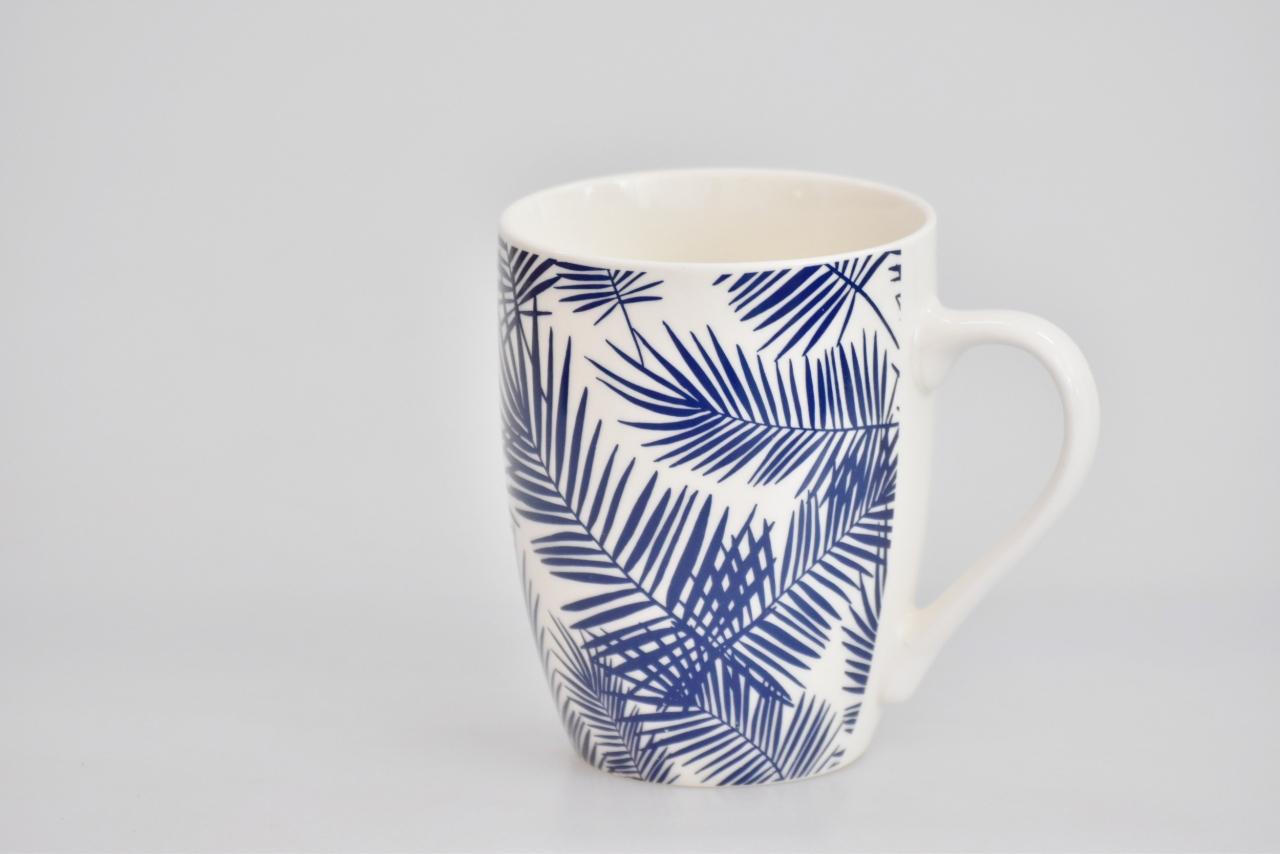 Porcelánový hrnek - modrý dekor XII