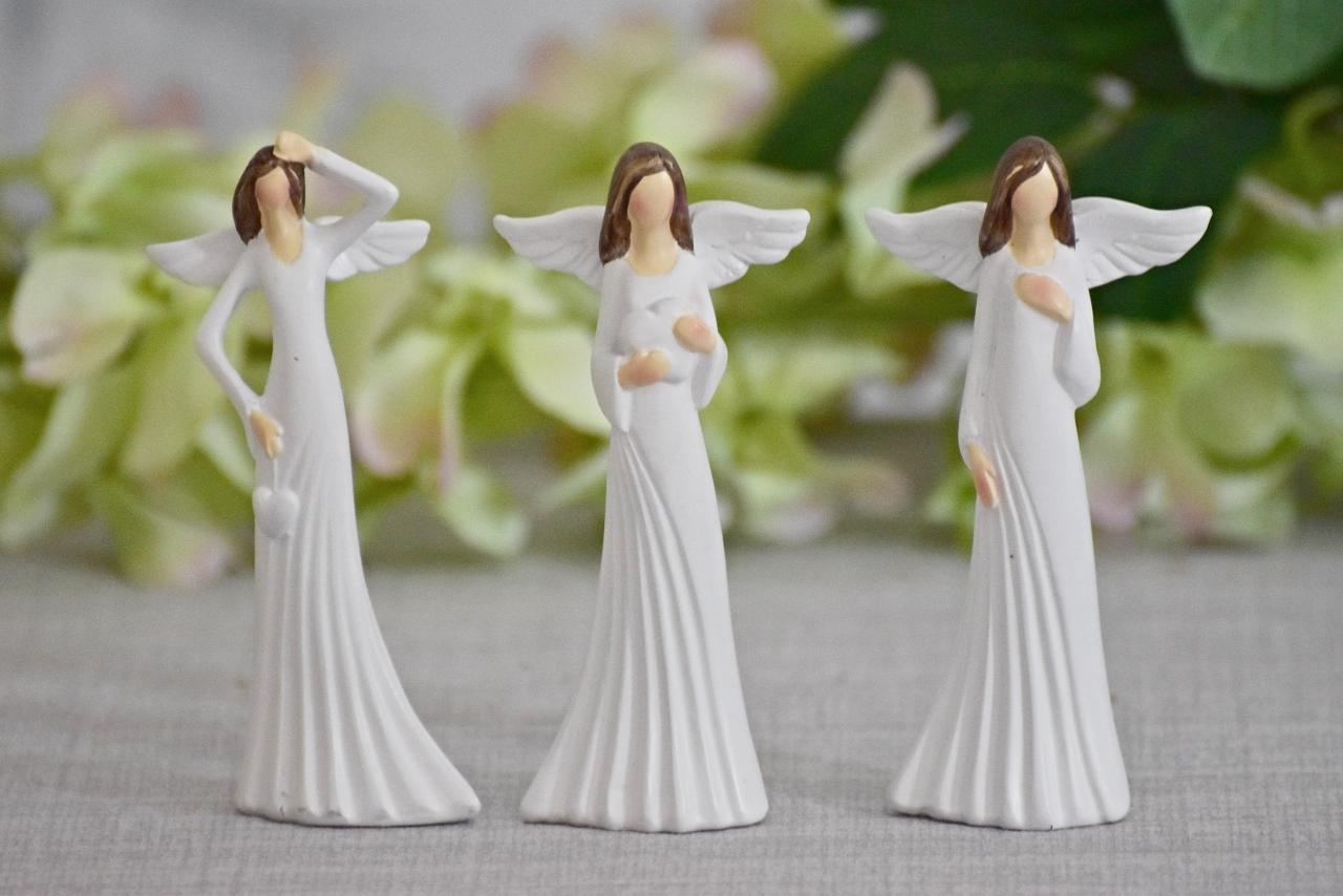 Anděl Stella 9 cm, bílý