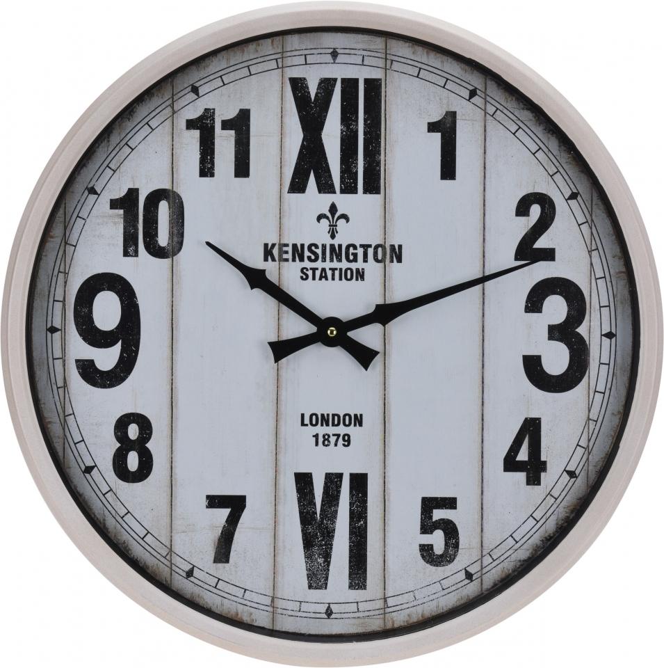 Kovové hodiny na zavěšení 51 cm KENSINGTON STATION LONDON 1879