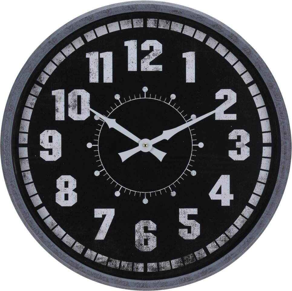 Kovové hodiny na zavěšení 51 cm Gray