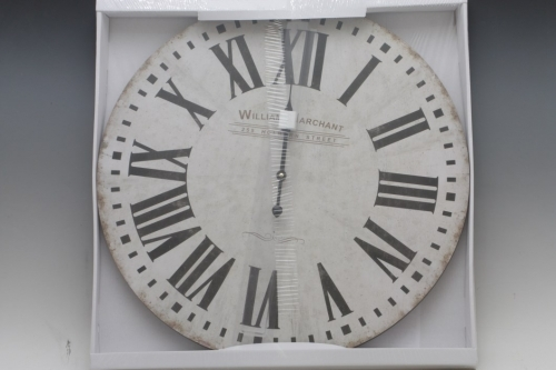 Hodiny na zavěšení WILLIAM white, 60 cm