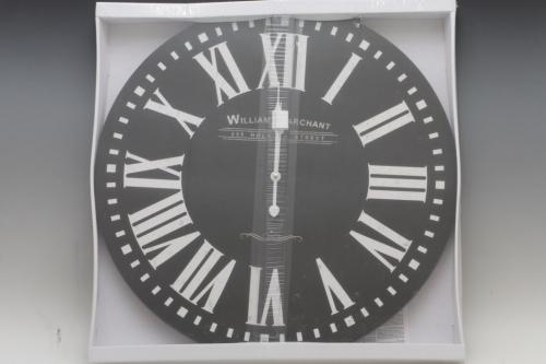 Hodiny na zavěšení WILLIAM black, 60 cm