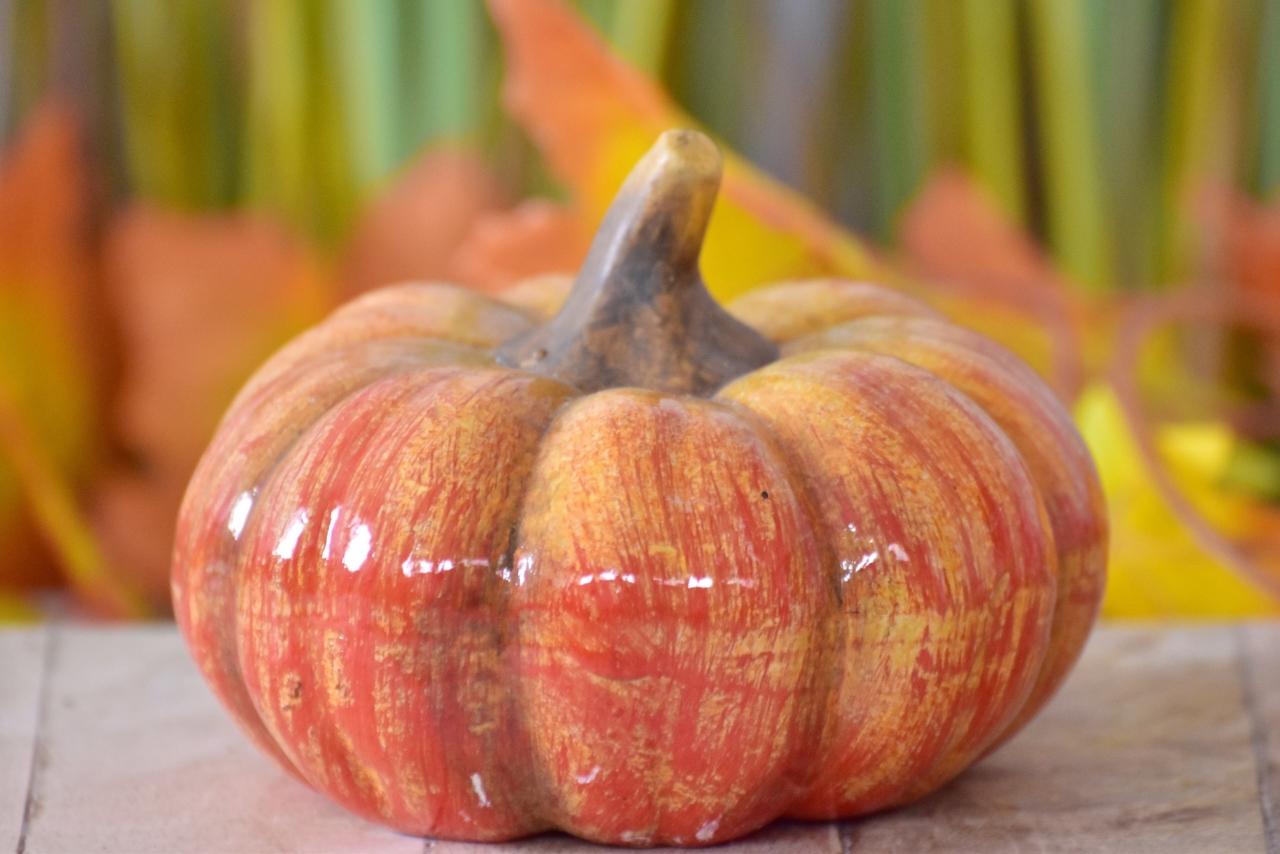 Keramická dýně 8,5x12 cm