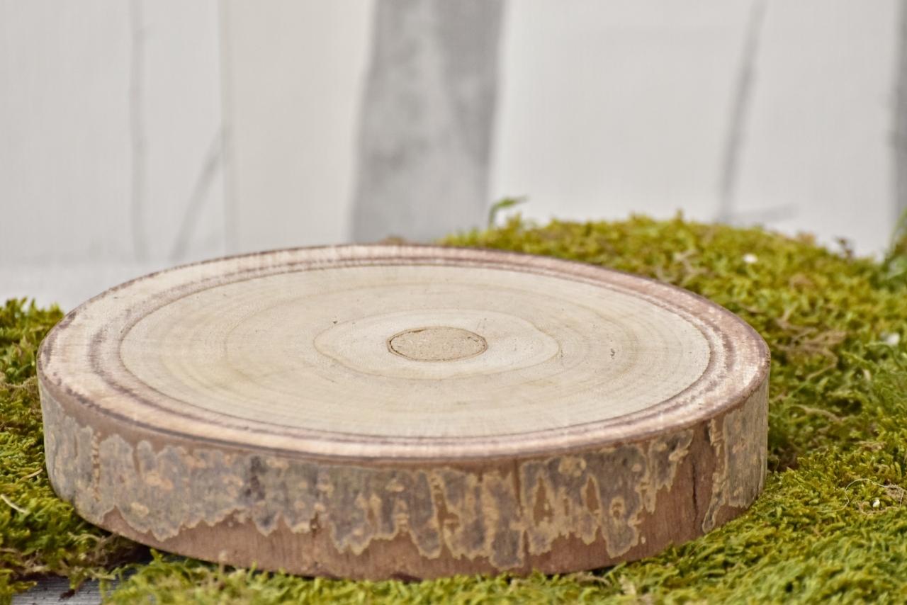 Dřevěná podložka Paulownia S, 20x4 cm