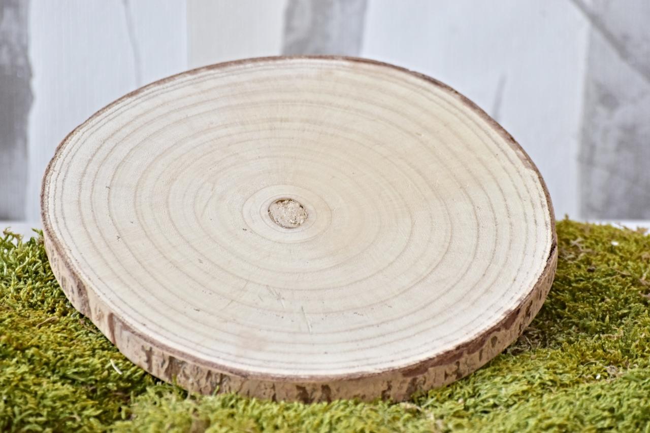 Dřevěná podložka Paulownia M, 25x2 cm