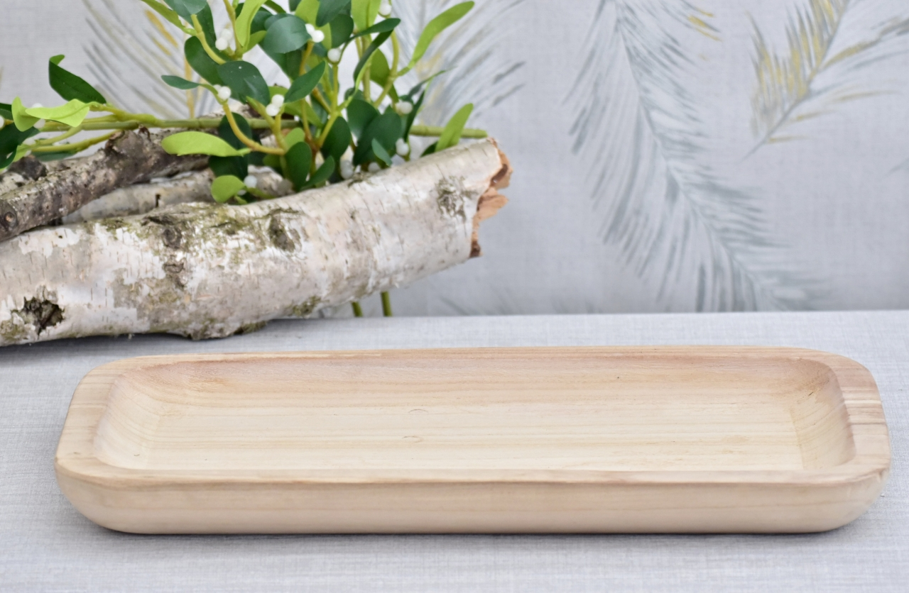 Dřevěný tác Paulownia L, 4x47x23,5 cm