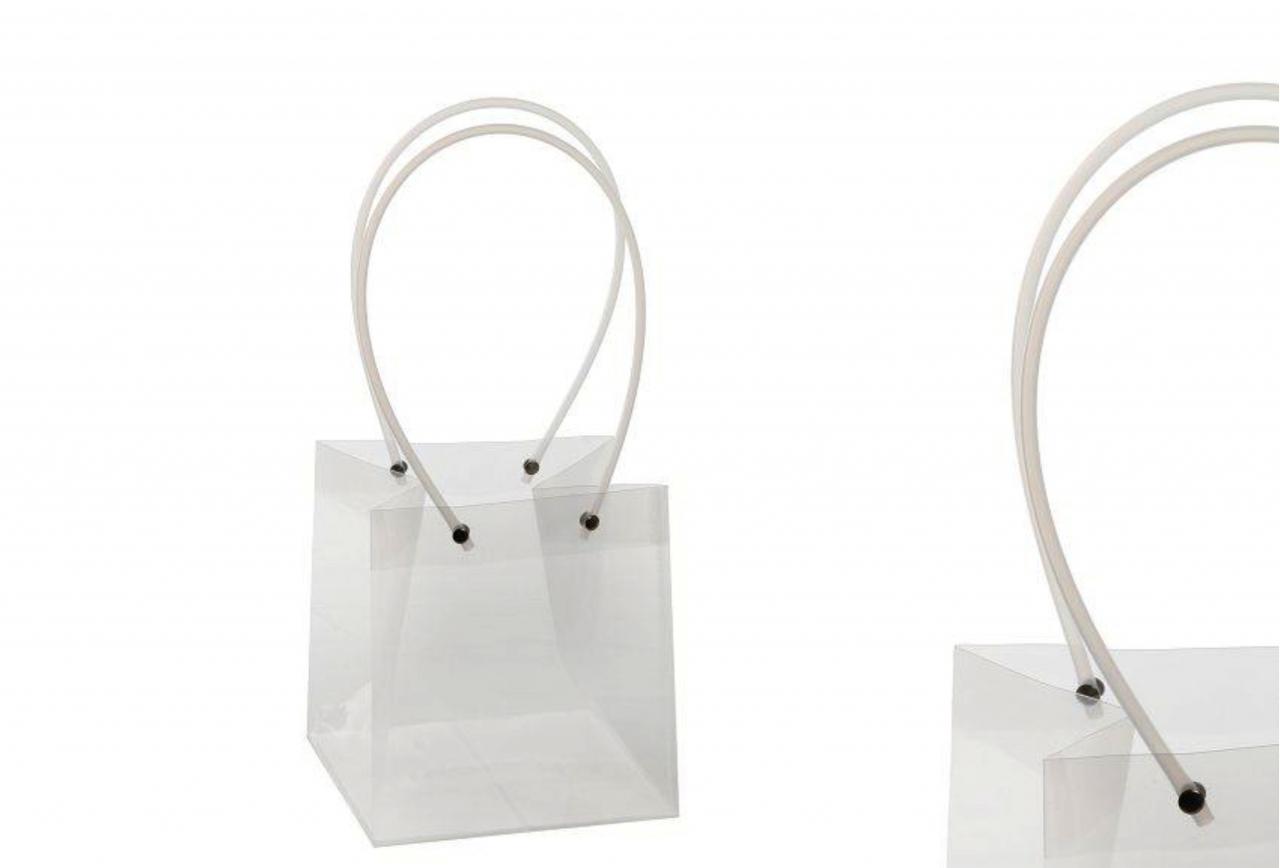 Průhledná plastová taška S