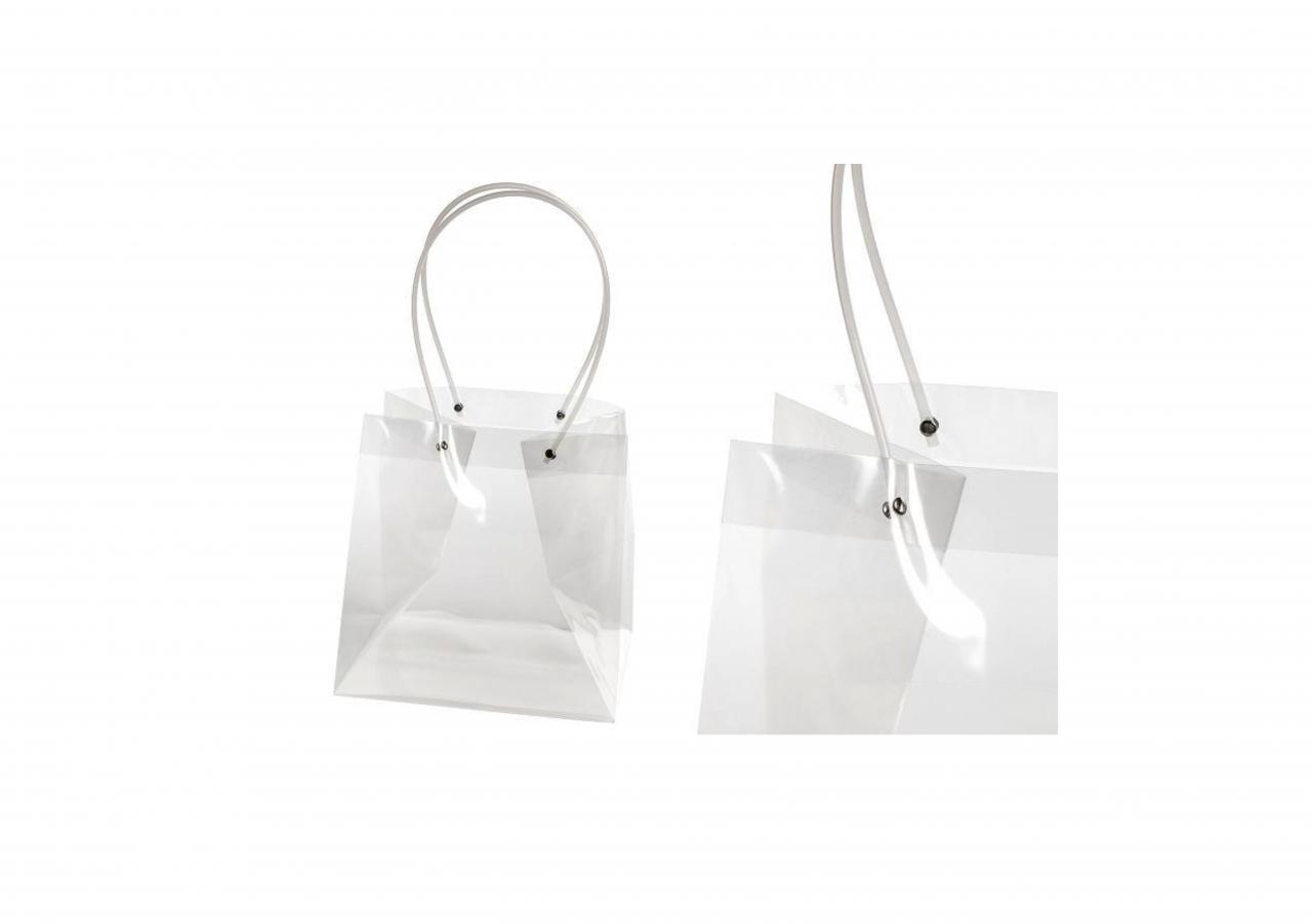 Průhledná plastová taška L