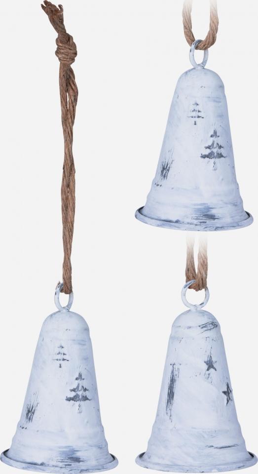 Kovový zvonek bílý 10x6 cm, mix druhů