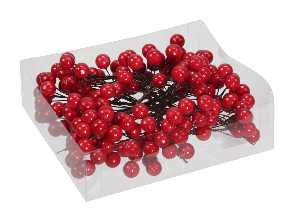 Dekorativní červené bobulky s/160 ks