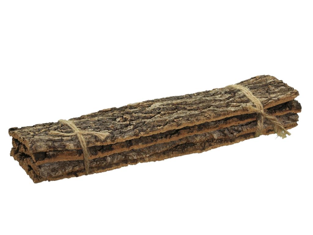 Přírodní podložka z kůry kaštanu s/4 ks,  50x13x10 cm
