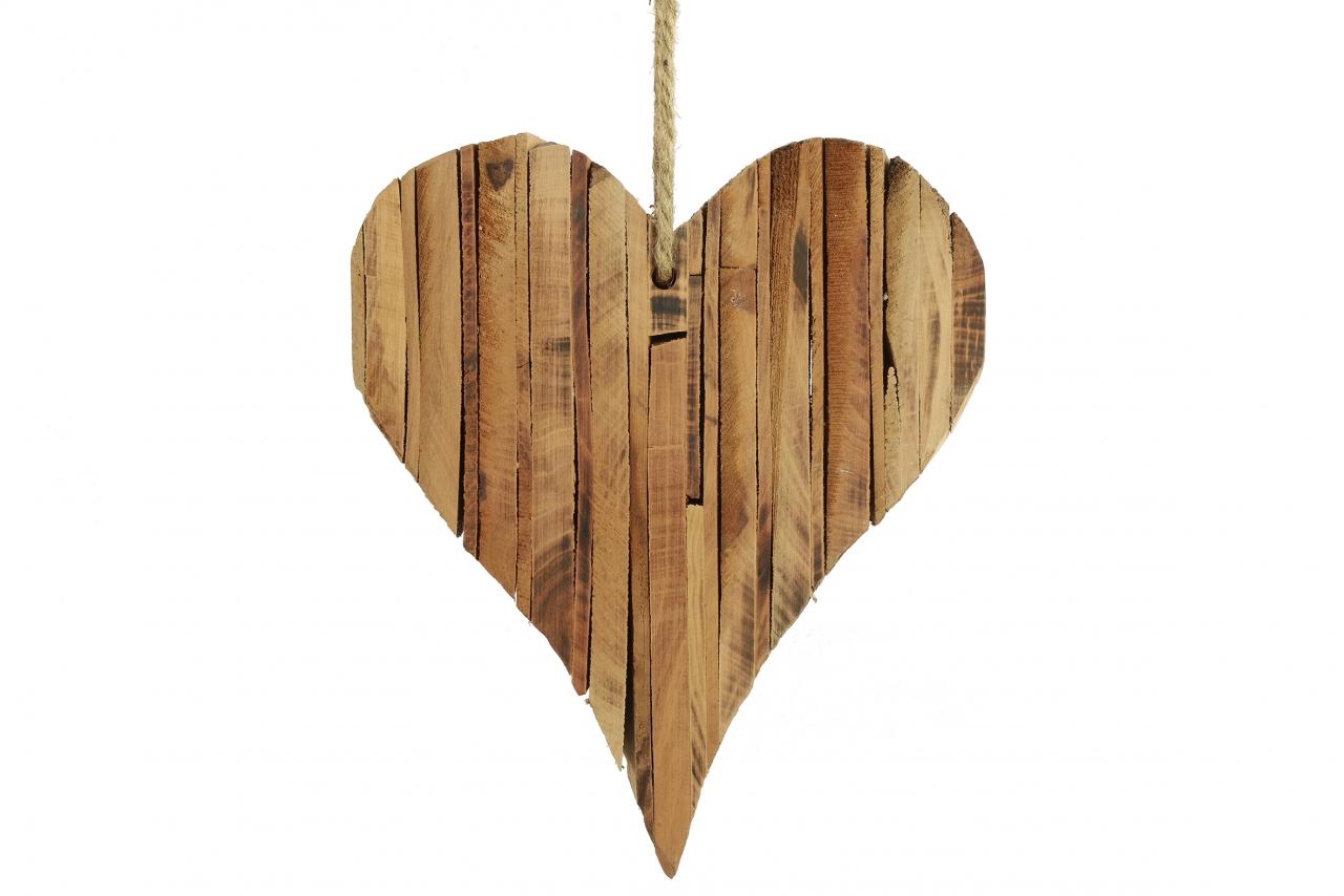 Závěsné srdce z dřívek 24x20,5x6 cm