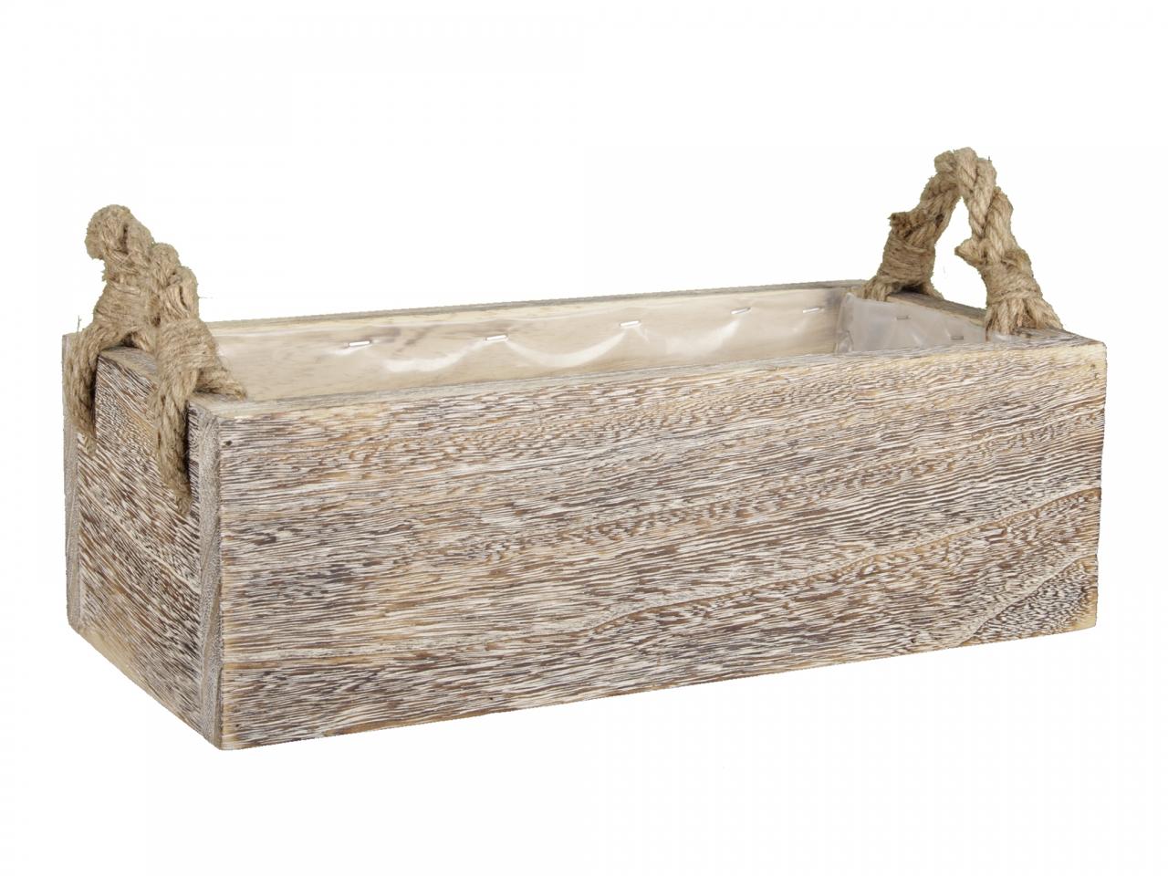 Dřevěná bedýnka Paulownia 41x19x13 cm