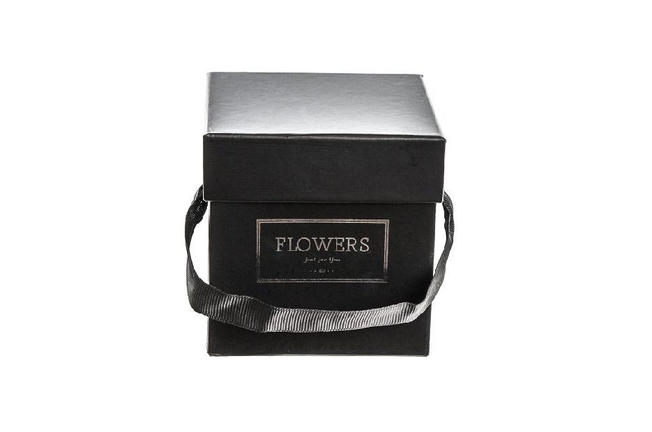 Flower box černý 9x9x9 cm