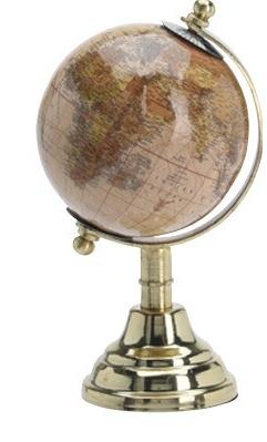 Otočný globus tmavě béžový