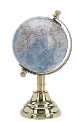 Otočný globus světle modrý
