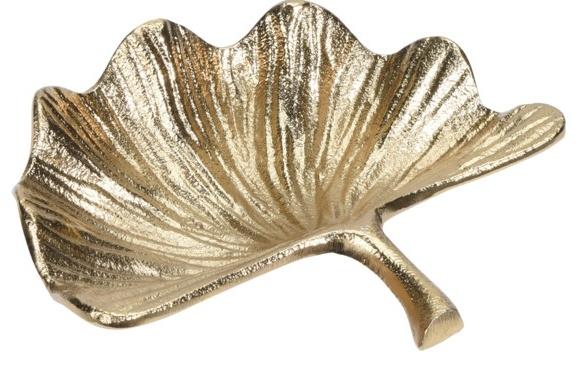Dekorační list Ginkgo s řapíkem, zlatý