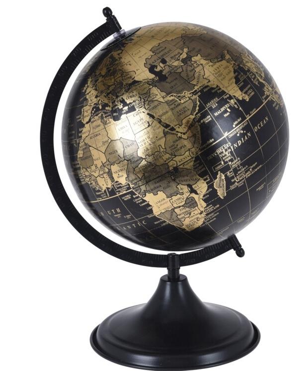 Otočný globus černý