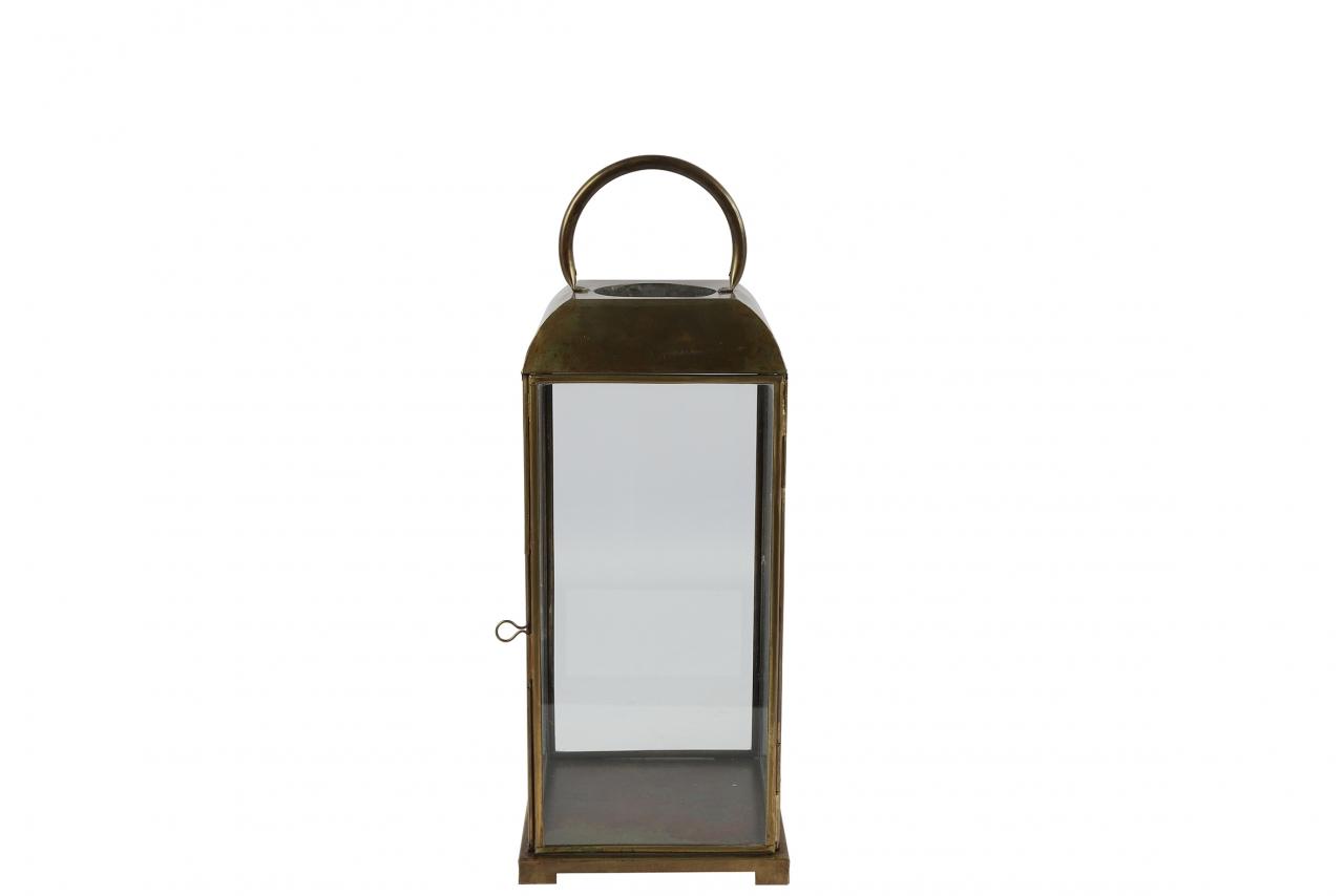 Kovová lucerna Viktor 17x17x46 cm