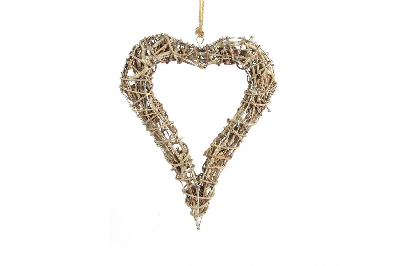 Proutěné srdce Meya 6x23x34 cm