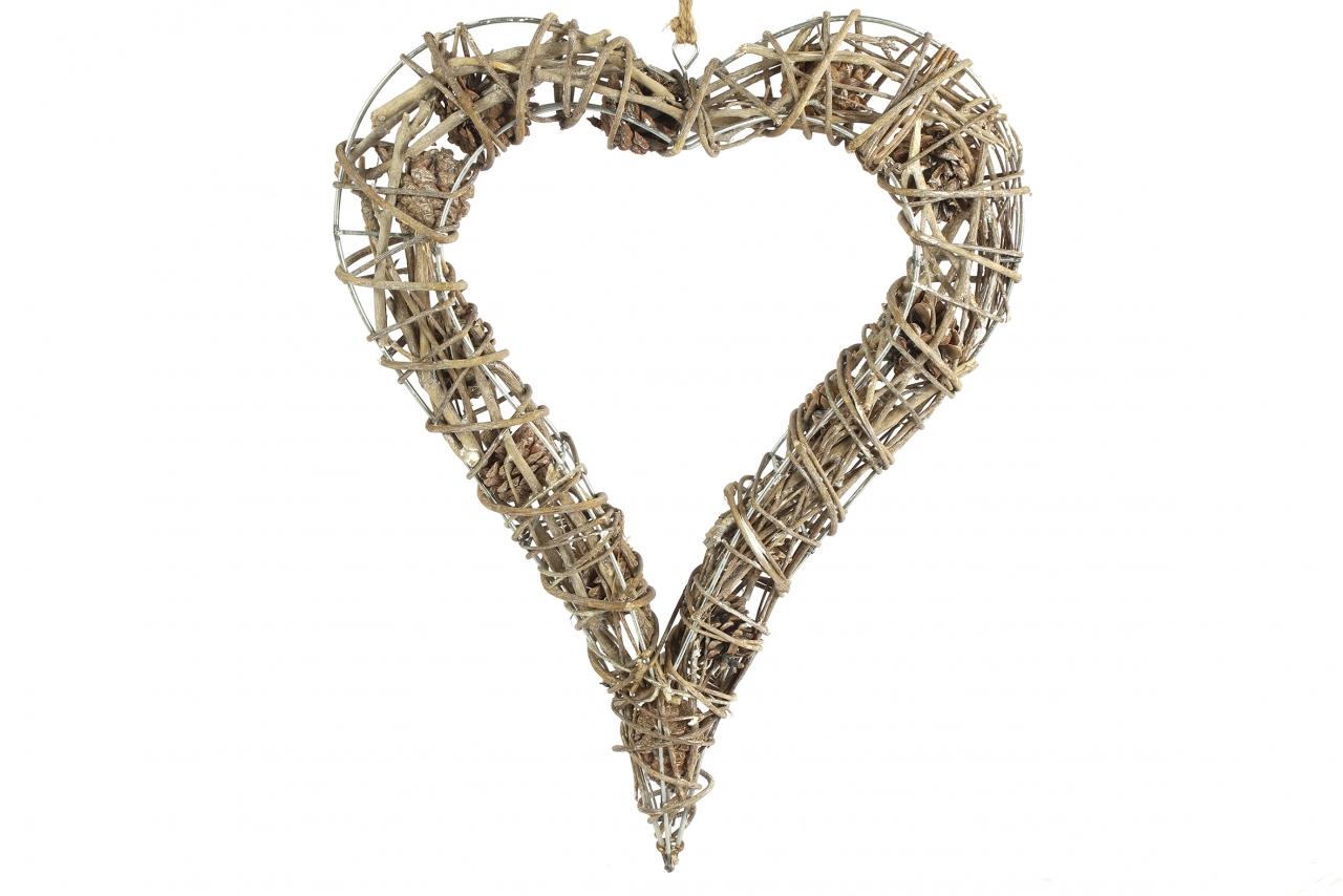 Proutěné srdce Meya 7x35x44 cm