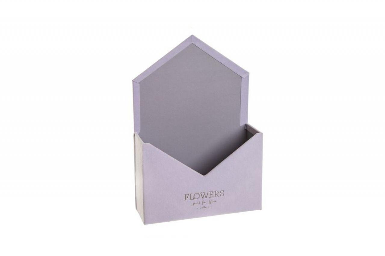Flower box obálka, fialová sametová