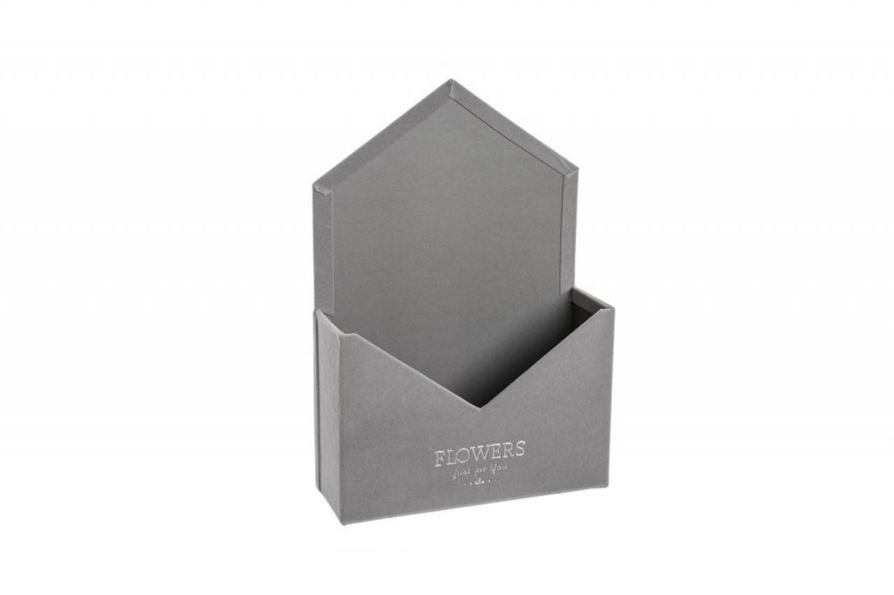 Flower box obálka, šedá sametová
