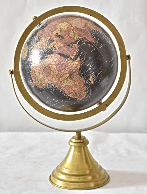 Otočný globus černý 38 cm