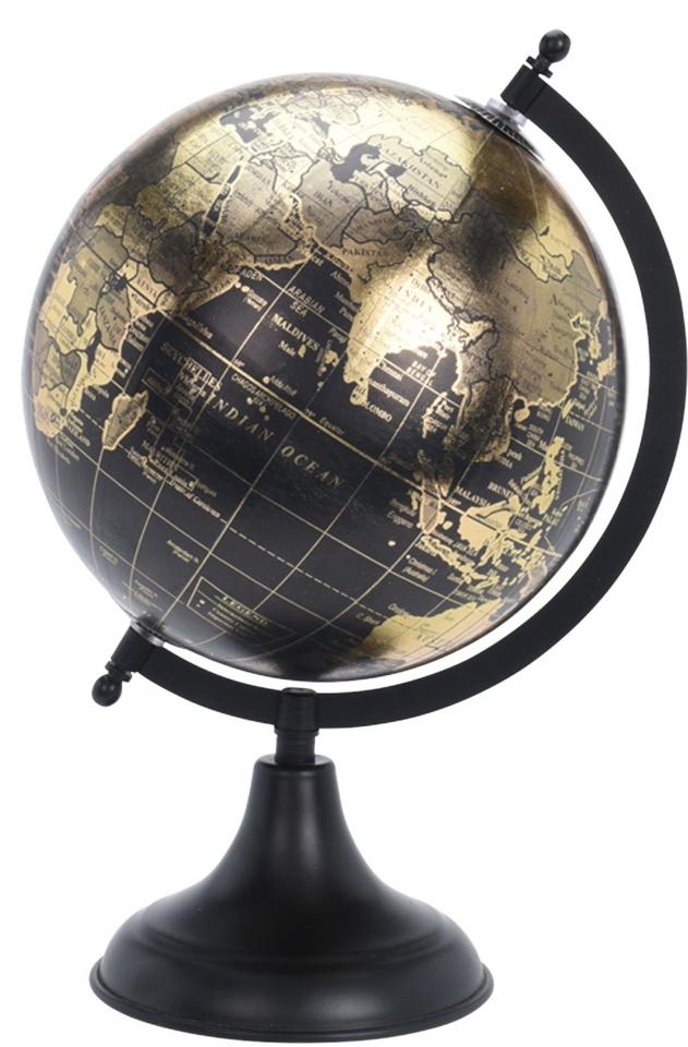 Otočný globus černý 33 cm