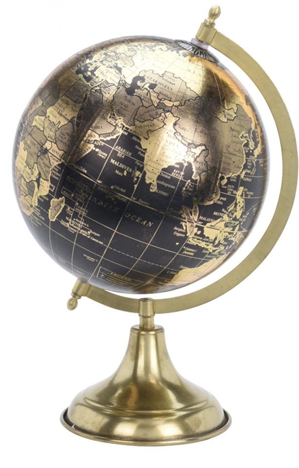 Otočný globus zlatý 33 cm