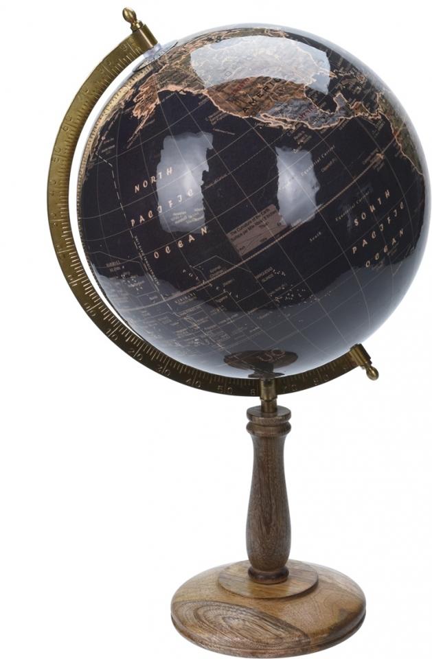 Otočný globus černý 43 cm