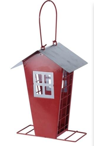 Krmítko pro ptáky červené 15,7x11x22 cm
