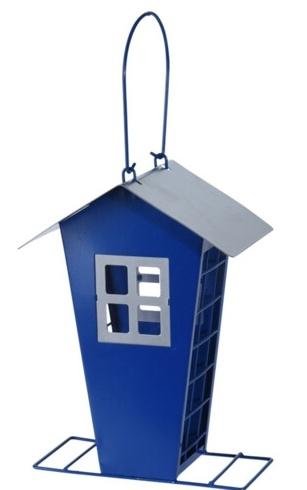 Krmítko pro ptáky modré 15,7x11x22 cm