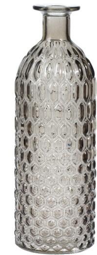 Skleněná váza fialová 26x9 cm